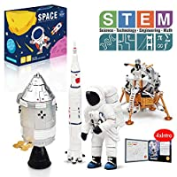 Lehoo Castle Construction Toys for 6-10 Year Old, STEM Educational Toys for Kids, Lunar Space Station Building Kit Including Space Toy Rocket Toys Space Capsule and Lunar Lander, New 2020