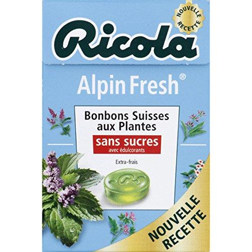 ricola Alpin fresh, Bonbons suisses aux plantes, Sans sucres et avec édulcorants - ( Prix Unitaire ) - Envoi Rapide Et Soignée