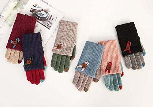 Lovely gants en laine tricotés / gants écran tactile / grand cadeau pour les amoureux Bleu