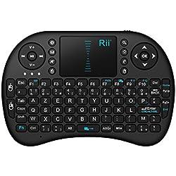 Rii Mini i8 Wireless (AZERTY) - Mini Clavier français, Ergonomique sans Fil avec Touchpad