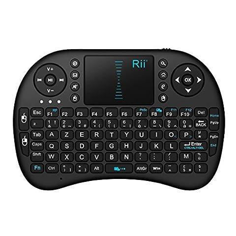 Rii Mini i8 Wireless (AZERTY) - Mini Clavier français, Ergonomique