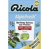 Ricola Alpin Fresh, Bonbons Suisses Aux Plantes, Sans Sucres Et Avec Édulcorants - ( Prix Par Unité ) - Envoi...