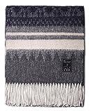Mitos Natural Elegance - Sofadecke Costa, Wolldecke grau blau mit Alpaka Wolle Schurwolle, etc