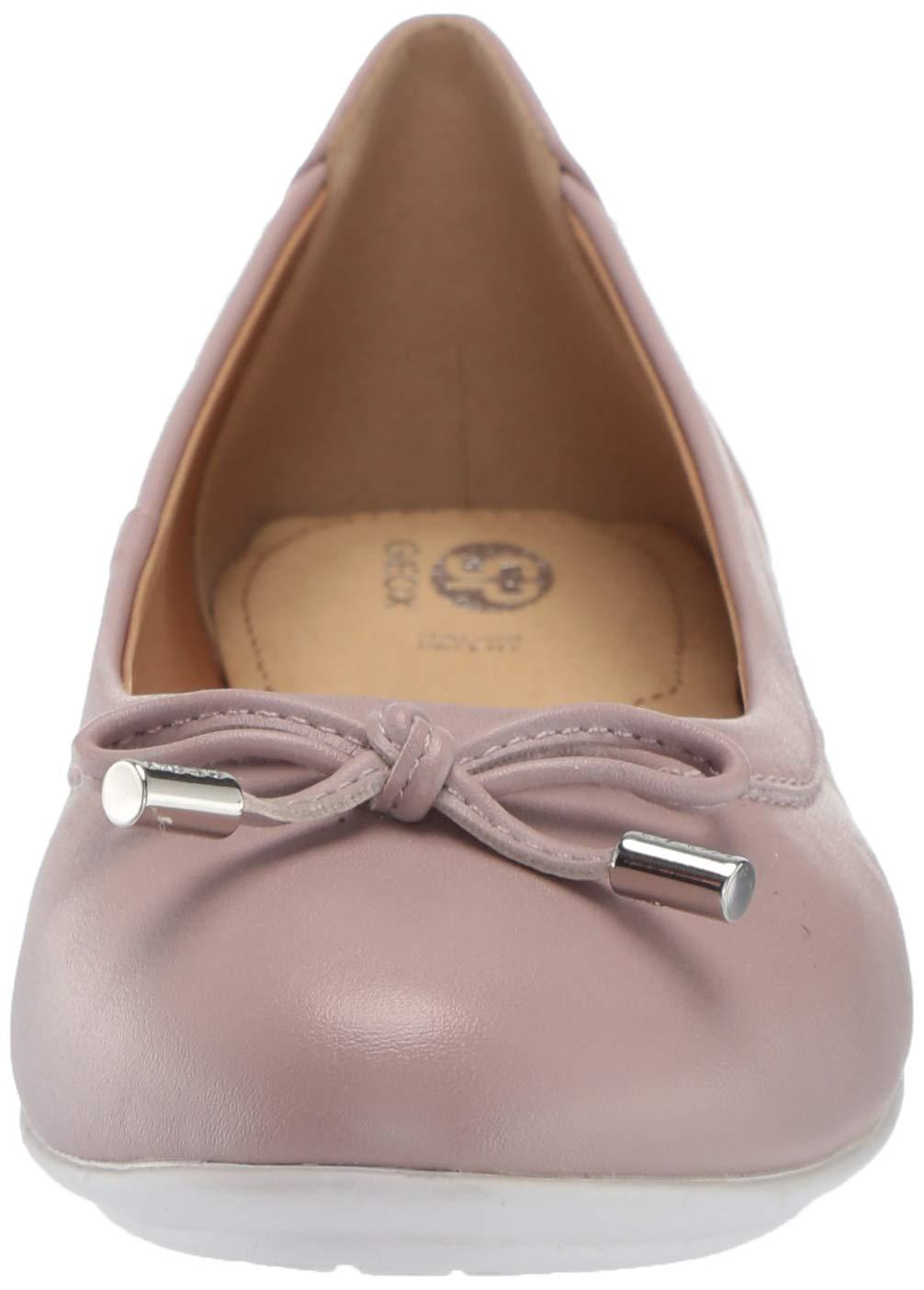 Geox Damen Round Toe Ballet Flat with Bow Charlene 27, runde Zehe, Ballerinas mit Schleife 4