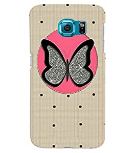 Citydreamz Butterfly\Dots Hard Polycarbonate Designer Back Case Cover For Samsung Galaxy Note 5