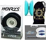 Henrys VIPER YoYo (Schwarz) Profi String Trick JoJo (1A) Kugellager Yo Yo + Lehr-Broschüre vricks + Stoff Reisetasche! AXYS-Systemachse Speed Explosion mit Präzisions-Kugellager.
