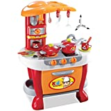 Dhawani Interactive Little Chef Kids Kitchen Play Set With Light & Sound