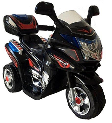 Black Polizei Kindermotorrad Elektromotorrad Akku Motorrad für Kinder