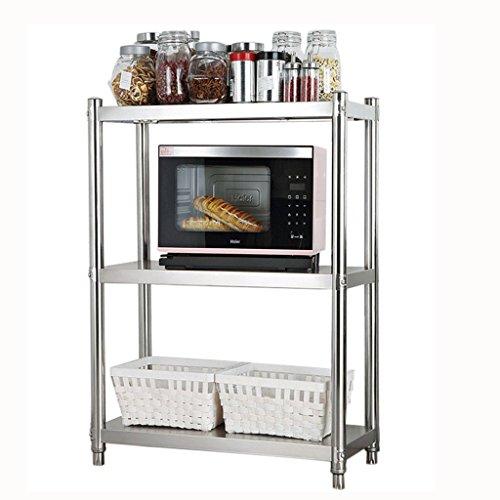 Ofen-gestell (MOMO Küchen-Zahnstangen, Edelstahl-Mikrowellen-Lagerregal / Ofen-Gestell / Haushalts-Regale / Boden-Speicher-Regale,60 * 45 * 80 cm)