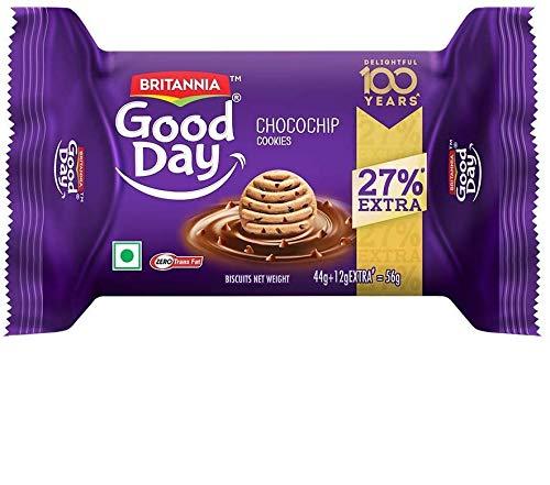 Britannia Good Day Chocochips, 44g+12g Extra