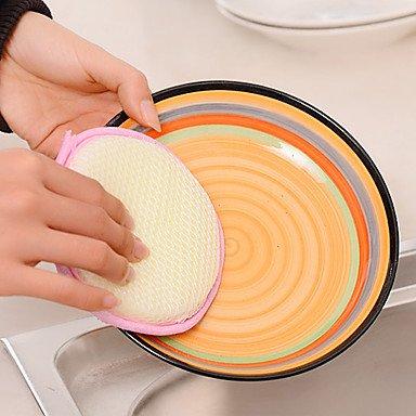 JY$ZB doppio lati spugne pan scrubber panno pot dishwash pad rotondo (colore (Pan Scrubber)