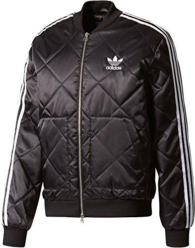 adidas Superstar Quilted Jacke Herren schwarz / weiß, L - 54 (Adidas Apparel College)