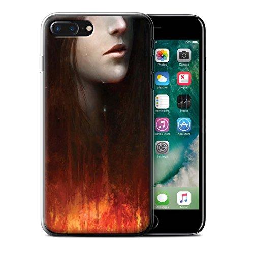 Offiziell Chris Cold Hülle / Gel TPU Case für Apple iPhone 7 Plus / Tränen der Eva Muster / Gefallene Erde Kollektion Tränen der Eva