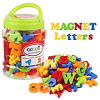 Coogam Uppercase Lowercase Magnetic Letters and Numbers for Children Math Symbols A-Z Alphabet Fridge Magnets Best Educational Toy for Preschool Learning Spelling Counting (78 Pcs)