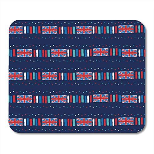 HOTNING Gaming Mauspad Blue Flag Union Jack Dash Navy Screen Ben Big Britain 11.8