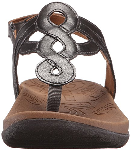 Rockport Cobb Hill Womens Ramona-CH Flat Sandal, Pewter, 6.5 M US Pewter