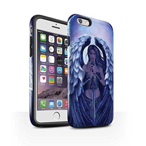 Officiel Elena Dudina Coque / Brillant Robuste Antichoc Etui pour Apple iPhone 6S / En Feu Design / Super Héroïne Collection Ange Gardien