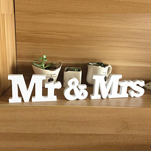chmücken für Hochzeit Dekoration 1 Set Mr & Mrs Zeichen Top Table Geschenk-Dekor (Hochzeit Zeichen)