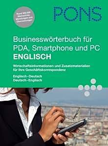 PONS Businesswörterbuch für PDA, Smartphone und PC Englisch