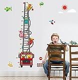 mznm Hero Tiere Klettern Fire Truck Wand Aufkleber jungen Wohnzimmer Schlafzimmer Party Play Home Dekoration Kids Wachstum Diagramm Wandbild Aufkleber