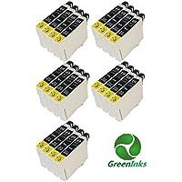 20 x T0711 inks, 20 x Compatible T0711 Black Epson Ink Cartridge, for Epson Printer Stylus D78/D92/D120/DX4000/DX4050/DX4400 DX4450/DX5000/DX5050/DX6000/DX6050/DX7000F DX7400/DX7450/DX8400/DX8450/DX9400F/S20/S21 SX100/SX110/SX105/SX115/SX200/SX205/SX209/SX210 SX215/SX218/SX400/SX405/SX405WiFi/SX410/SX415/SX510W/ SX515W/SX600FW/BX600FW/BX610FW Office B40W/BX300F/BX310FN Printers - Compatible Epson Cheetah Inks T0711 Black TO711 E- 711