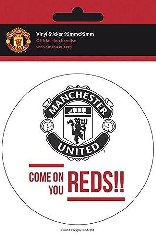 Fußball - Manchester United - Come On - Sticker Aufkleber - Größe Ø9 cm