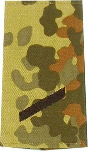 Unbekannt Bundeswehr Rangschlaufen (Heer) Gefreiter Farbe: Flecktarn mit Schwarzer Stickerei 1 Paar BW