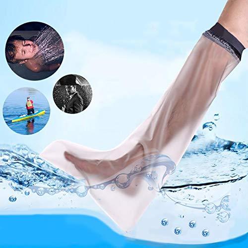 WHYIT Gipsschutz Wasserdicht Bein, Duschüberzug Fuß Beinschutz für das Halbe Bein beim Baden, Kurzer Wasserdichter Beinprotektor für Gips-und Verbandschutz beim bei Dusche & Bad Erwachsene