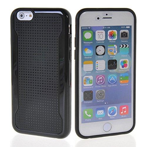 MOONCASE Gel TPU Housse Coque Etui Case Cover Pour Apple iPhone 6 ( 4.7 inch ) Noir Noir 01