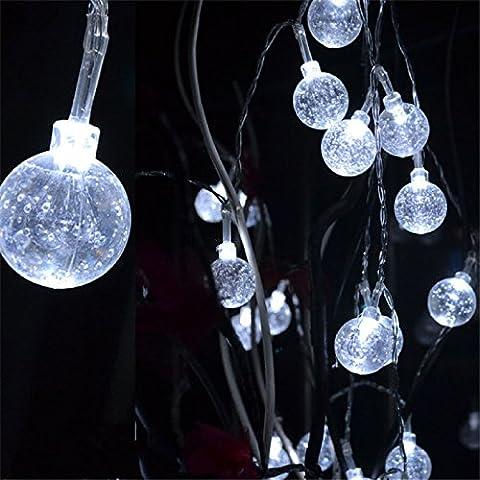 DulceCasa 10 M 100 LED Guirlande Lumières Boule Cristal Lampe