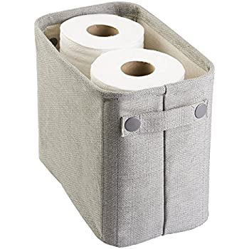 Perfect Mdesign Magazine Storage Box Made Of Cotton, For Bathroom, Toilet Paper,  Hand Towel U2013 Large U2013 Light Grey