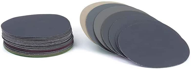 Bagnati Foglio 20 Pezzi//Lotto 125 Mm Asciutti Abrasivi Set Da 5 Pollici Dischi Abrasivi Rotondi Carta Abrasiva Velcro Grana 3000//4000//5000//7000//10000 Disco Di Sabbia