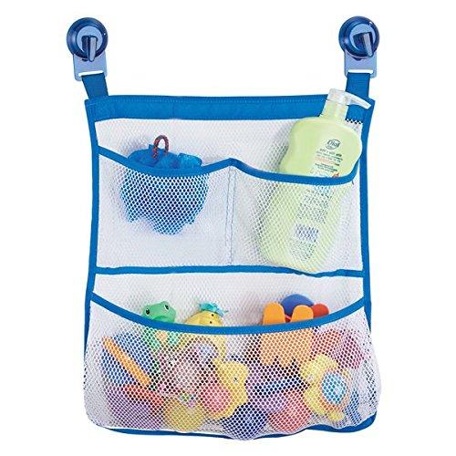mDesign Bad Organizer für Badewanne und Dusche ohne Bohren - Badewannen Caddy mit 3 Fächern zur cleveren Bad Aufbewahrung von Badzubehör, Shampoo oder Badewannenspielzeug - transparent