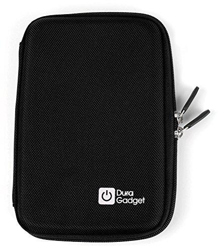 DURAGADGET schwarze 9 Zoll Hartschalentasche mit Netzfach und Klettverschluss zur sicheren Fixierung sowie wasserabweisender Nylon Oberfläche für Tablets mit Bildschirmdurchmesser 9 Zoll (22,86 cm) wie Blaupunkt ENDEAVOUR 101M | Aldi Medion Akoya E1235T | Odys Xelio 10 plus 3G | TrekStor breeze 10.1 quad plus | Apple iPad Pro 9.7 | Asus ZenPad 10 (Z300CG) und andere Tablets mit 9 Zoll (22,86 cm) Bildschirmgröße