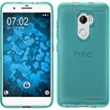 PhoneNatic Case für HTC One X10 Hülle Silikon türkis, transparent Cover