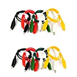 10 Pcs Colorful Double Ended Alligator Clips Test Lead Jumper Wires