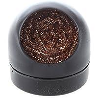 SODIAL(R) Limpiador de boquilla de hierro de limpieza de punta de soldador con bola de esponja con soporte