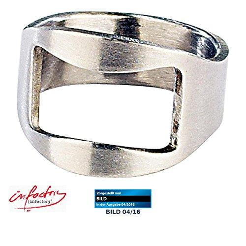 infactory Bieröffner Ring: Flaschenöffner-Ring mit 20mm Innen-Durchmesser (Flaschenöffner Kronkorken) (Ring Flaschenöffner)
