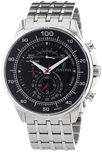Festina Gents Watch Chronograph Quartz Stainless Steel XL F6830 / 4