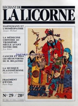 CHANT DE LA LICORNE (LE) [No 29] du 31/1...