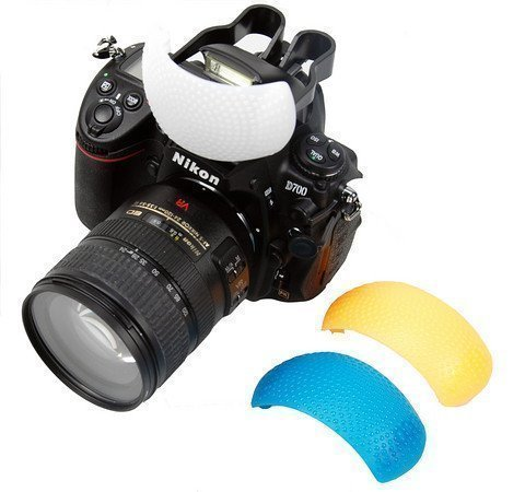 SHOPEE BRANDED 3 Color Pop Up Hot-Shoe Flash Diffuser Set for DSLR Cameras (CANON, NIKON)  available at amazon for Rs.199