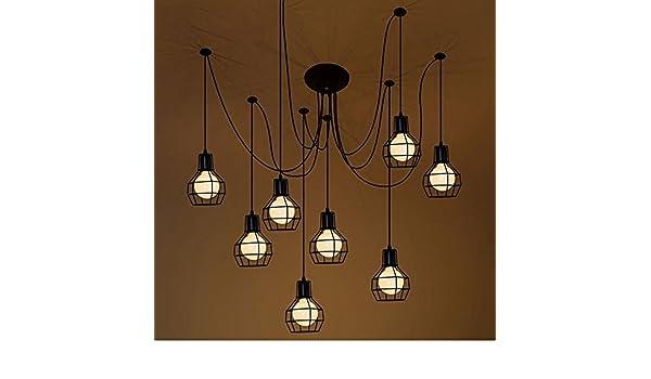Lampadario Filo Di Ferro Fai Da Te : 8 lampadari a raggiera a braccio retro illuminazione a soffitto