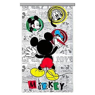 AG Design Disney Mickey Mouse Kinderzimmer Gardine/Vorhang, 1 Teil, Stoff, Multicolor, 140 x 245 cm