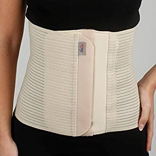 Armo Line Abdominal Binder Post Pregnancy Belly Wrap Postpartum Post-op Support (L, Black)
