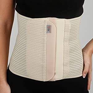 Bauchbinde Bauchband Bauch Binder Post Schwangerschaft Bauch Wrap Postpartale post-op Support (XXL (110-120 cm), Beige)