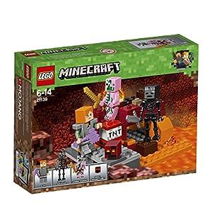 LEGO Minecraft 21139 – Nether-Abenteuer Fight, Konstruktionsspielzeug