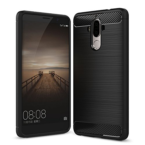 IVSO Huawei Mate 9 Coque, Huawei Mate 9 Housse Etui TPU Silicone Case Coque pour Huawei Mate 9 5.0-Inch Smartphone (Noir)