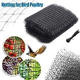 omufipw Anti Bird Netting Black, Gartenteichnetz zur Pflanzenschutzbekämpfung mit Kabelbinder