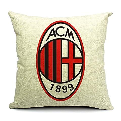 Jgartstore AC Milan Taie d'oreiller, AC Milan Taie d'oreiller, simple Ikea Logo AC Milan Football Couvre-lit Taie d'oreiller Taie d'oreiller Wholesale 45,7x