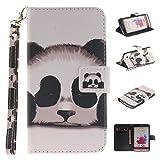 Lomogo LG G3 Hülle Leder, Schutzhülle Brieftasche mit Kartenfach Klappbar Magnetverschluss Stoßfest Kratzfest Handyhülle Case für LG G3 (D855) - TOXI24668#1
